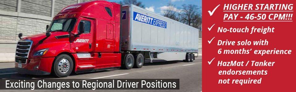 Regional Driver Changes