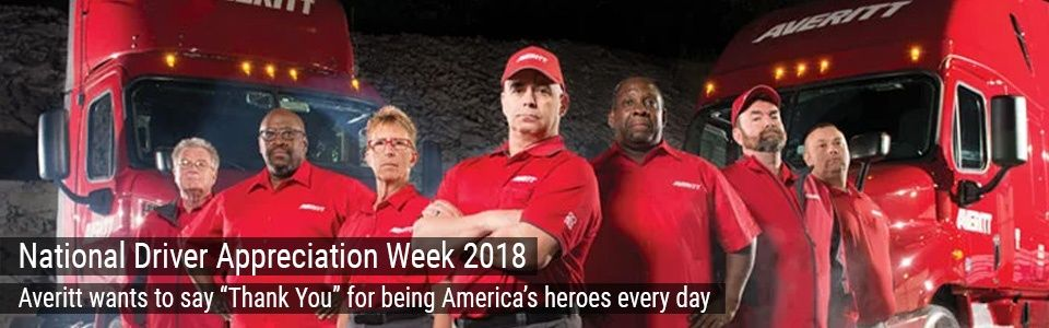 National Driver Appreciation Week 2018